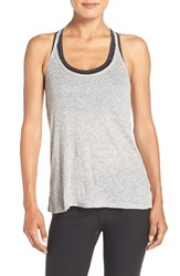 Zella Women's 'Back Into It' Racerback Tank Grey Light Heather