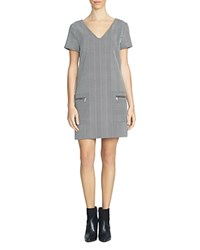 1.State Chevron Shift Dress Chalk