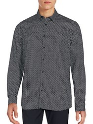 J. Lindeberg Speckled Button Down Shirt Black White