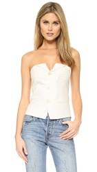 Laveer Isola Button Up Bustier Top Bone