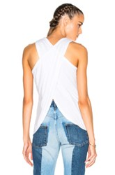 James Perse Wrap Back Tank Top In White