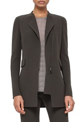 Women's Akris Asymmetrical Zip Double Face Wool Crepe Jacket