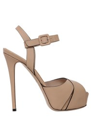 Le Silla 140Mm Leather Sandals