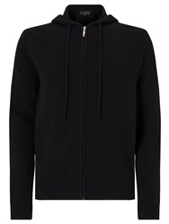 John Lewis Made In Italy Premium Cashmere Hoodie Black