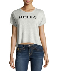 Central Park West Knit Hello Goodbye Top Heather Gray