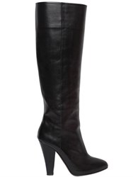 Sonia Rykiel 100Mm Brushed Leather Boots
