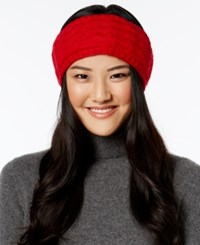 Echo Braid Stitch Headband Painter Red