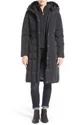 Cole Haan Signature Women's Cole Haan Bib Insert Down And Feather Fill Coat Black