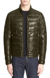 Men's Moncler 'Acorus' Channel Quilted Down Jacket Olive