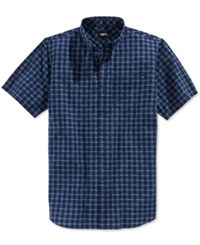 Fox Men's Jacquard Woven Shirt Indigo