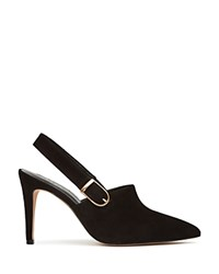 Reiss Sass Pointed Toe Slingback Pumps Black Gold