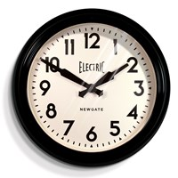 Newgate Clocks Large Electric Clock Black