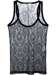 Givenchy Floral Lace Vest Top Black