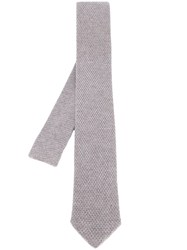 Eleventy Knitted Tie Nude And Neutrals
