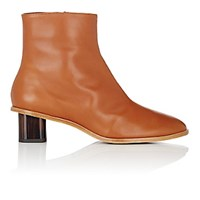 Robert Clergerie Women's Preen Leather Ankle Boots Tan