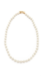 Kenneth Jay Lane Imitation Pearl Necklace Gold Pearl