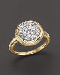 Bloomingdale's Diamond Circle Statement Ring In 14K Yellow Gold .40 Ct. T.W.