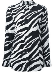 Equipment Zebra Print Shirt White