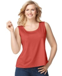 Charter Club Plus Size Tank Top Modern Coral