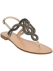 Phase Eight Kali Embellished Flat Sandals Grey