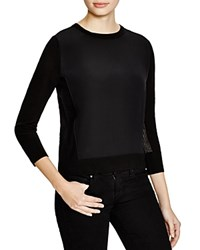 Magaschoni Silk And Cashmere Mesh Pullover Black