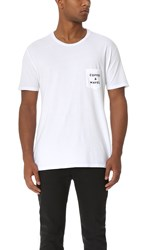 Quality Peoples Coffee And Waves Pocket Tee White