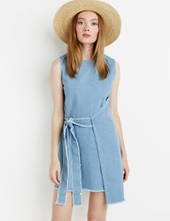 Pixie Market Frayed Denim Wrap Dress