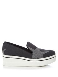 Stella Mccartney Binx Flatform Denim Loafers Black