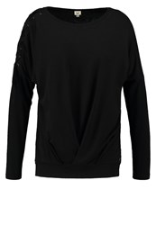 Khujo Thebe Long Sleeved Top Meteorite Black