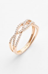 Bony Levy Women's Braided Diamond Ring Nordstrom Exclusive