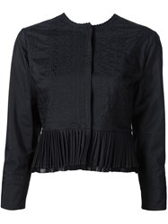 Maison Martin Margiela Maison Margiela Cropped Pleated Jacket Black