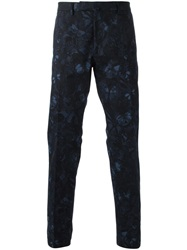 Valentino Butterfly Print Chinos Blue