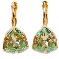 Isabella Tropea Crystal Candy Kiss Earring Luminous Green Gold