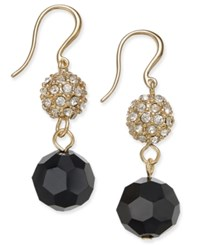 Charter Club Gold Tone Fireball And Jet Bead Drop Earrings Only At Macy's
