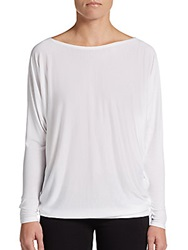 Vince Batwing Sleeved Tapered Bottom Top White