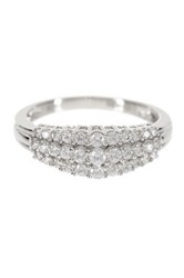 Allora Diamonds Sterling Silver Diamond Pyramid Band 0.50 Ctw Metallic