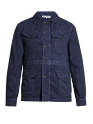 Orlebar Brown Adrian Four Pocket Linen Jacket Navy