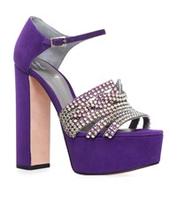 Gina Juniper Jewelled Platform Heels Female Purple