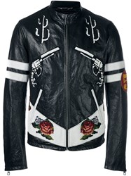 Dolce And Gabbana Western Leather Jacket Black