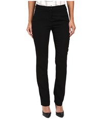 Ivanka Trump Crepe Straight Leg Pants Black Women's Clothing