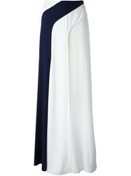 Ralph Lauren Black Label Ralph Lauren Black Paneled Long Skirt White