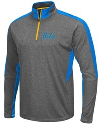 Colosseum Men's Ucla Bruins Atlas Quarter Zip Pullover Charcoal Blue
