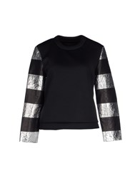 American Retro Topwear Sweatshirts Women Black