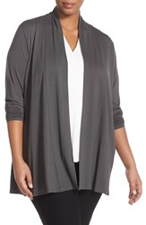 Plus Size Women's Eileen Fisher Lightweight Jersey Long Kimono Cardigan