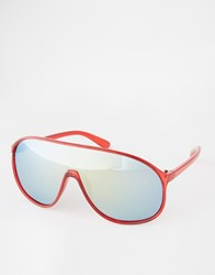 Trip Visor Sunglasses Red