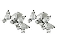 French Connection Jeweled Ear Cuff Earrings Set Silver Earring