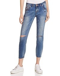 One Teaspoon Freebirds 2 Distressed Straight Leg Jeans In Blue Blonde