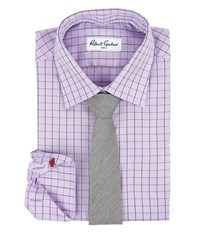 Robert Graham Lamar Dress Shirt Lavender Men's Long Sleeve Button Up Purple