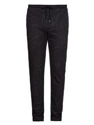 Dolce And Gabbana Wool Herringbone Track Pants