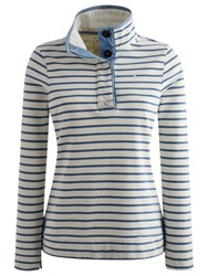 Joules Cowdray Striped Button Neck Sweatshirt Saltwash